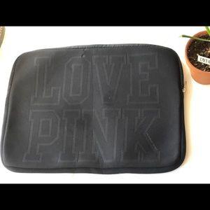 PINK Victoria's Secret Black Laptop Case GUC